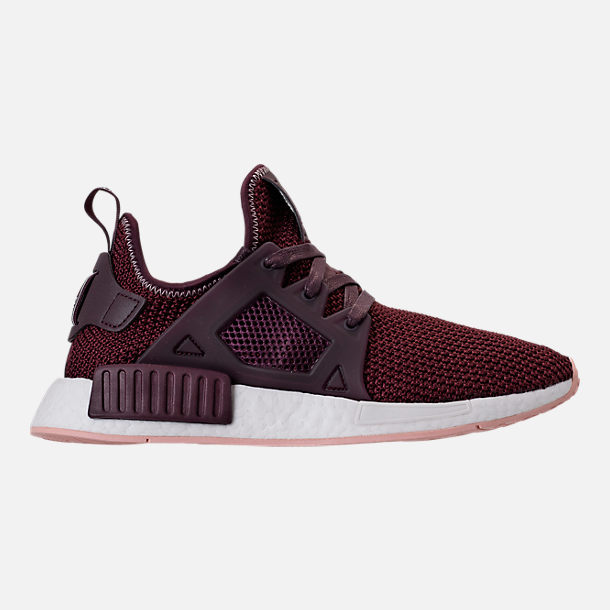 Right view of Women's adidas NMD XR1 Casual Shoes in Dark Burgundy/Vapour Pink