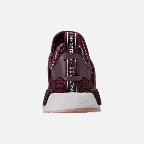 Back view of Women's adidas NMD XR1 Casual Shoes in Dark Burgundy/Vapour Pink