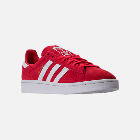 Three Quarter view of Women's adidas Campus Casual Shoes in Core Pink/Running White/Crystal White