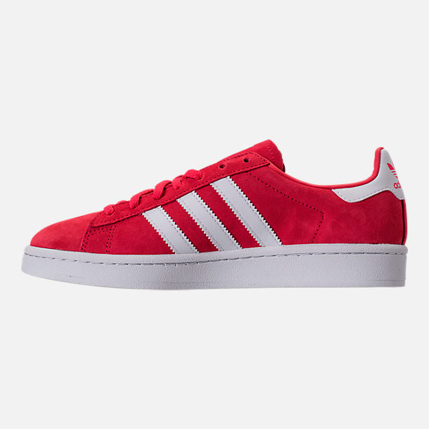 Left view of Women's adidas Campus Casual Shoes in Core Pink/Running White/Crystal White