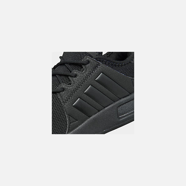 Front view of Boys' Big Kids' adidas Originals X_PLR Casual Shoes in Core Black