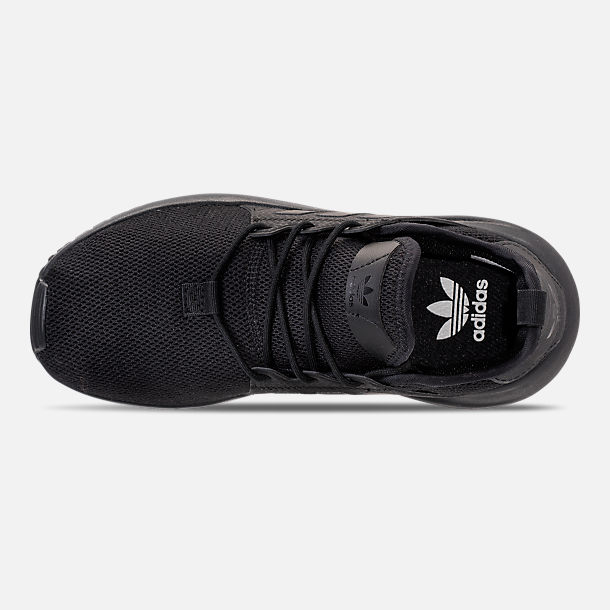 Top view of Boys' Big Kids' adidas Originals X_PLR Casual Shoes in Core Black