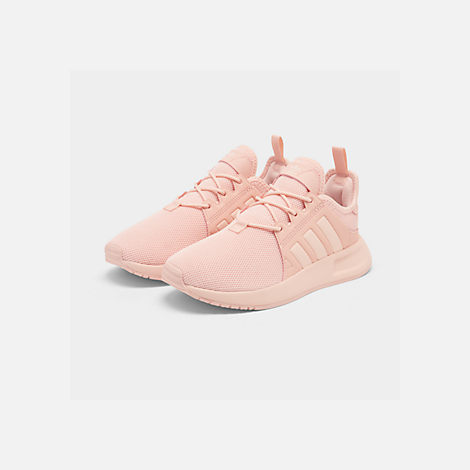 Three Quarter view of Girls' Big Kids' adidas Originals X_PLR Casual Shoes in Icey Pink/Icey Pink/Icey Pink
