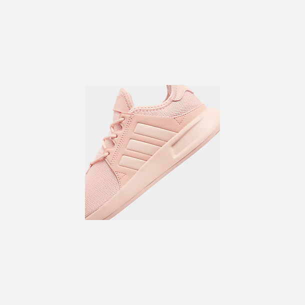 Front view of Girls' Big Kids' adidas Originals X_PLR Casual Shoes in Icey Pink/Icey Pink/Icey Pink