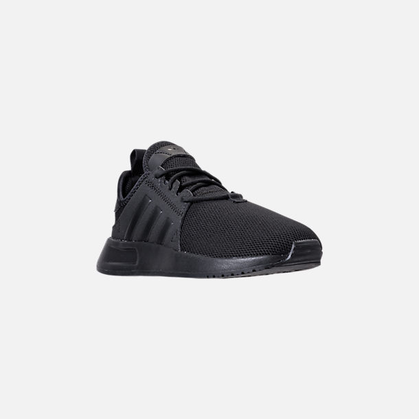 Three Quarter view of Boys' Little Kids' adidas Originals X_PLR Casual Shoes in Core Black