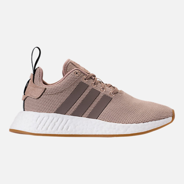 Right view of Boys' Grade School adidas NMD R2 Casual Shoes in Trace Khaki/White
