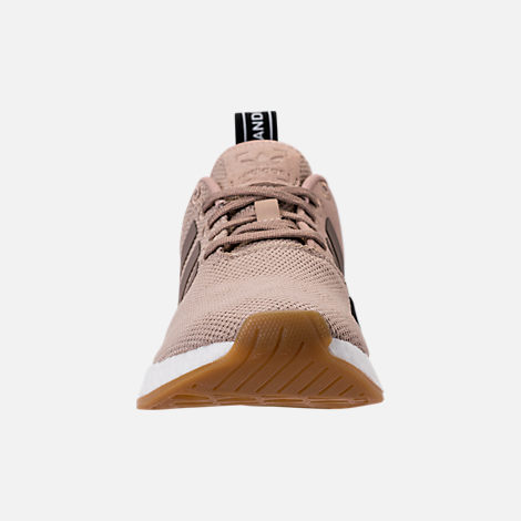 Front view of Boys' Grade School adidas NMD R2 Casual Shoes in Trace Khaki/White