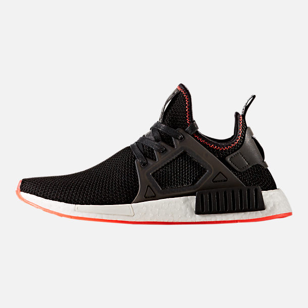 Left view of Men's adidas NMD Runner XR1 Casual Shoes in Core Black/Solar Red