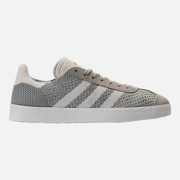 Right view of Men's adidas Originals Gazelle Primeknit Casual Shoes in Sesame/Off White/Trace Green