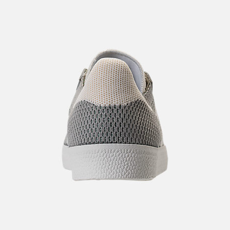 Back view of Men's adidas Originals Gazelle Primeknit Casual Shoes in Sesame/Off White/Trace Green