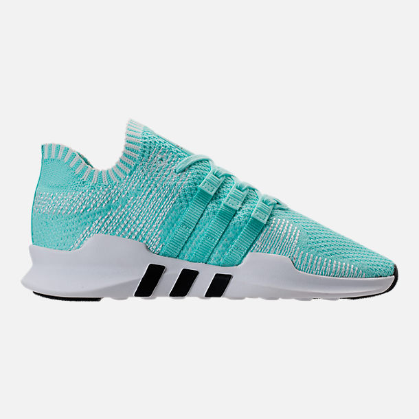 Right view of Women's adidas EQT Support ADV Primeknit Casual Shoes in Energy Aqua/Core White
