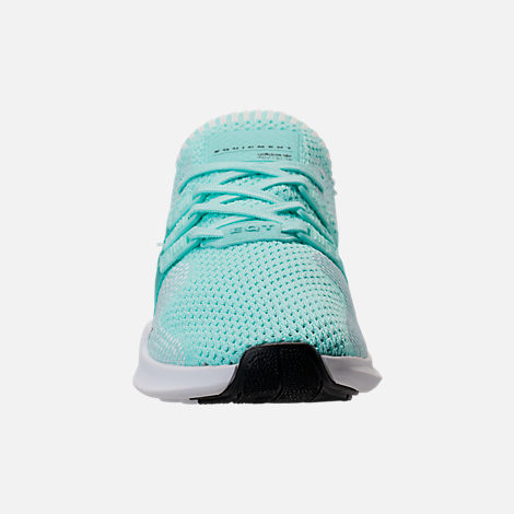 Front view of Women's adidas EQT Support ADV Primeknit Casual Shoes in Energy Aqua/Core White