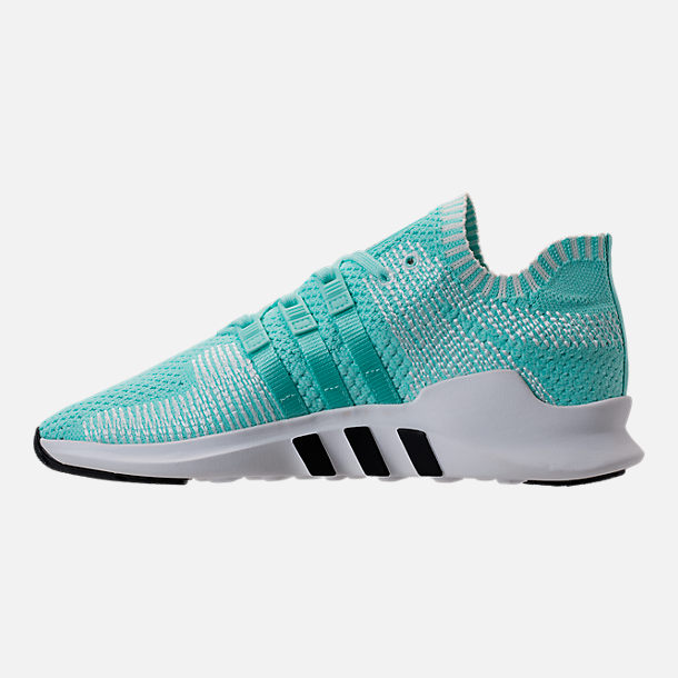 Left view of Women's adidas EQT Support ADV Primeknit Casual Shoes in Energy Aqua/Core White