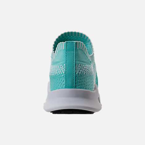 Back view of Women's adidas EQT Support ADV Primeknit Casual Shoes in Energy Aqua/Core White