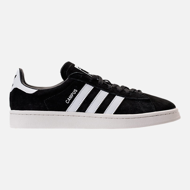 Right view of Men's adidas Originals Campus Casual Shoes in Core Black/Footwear  White/