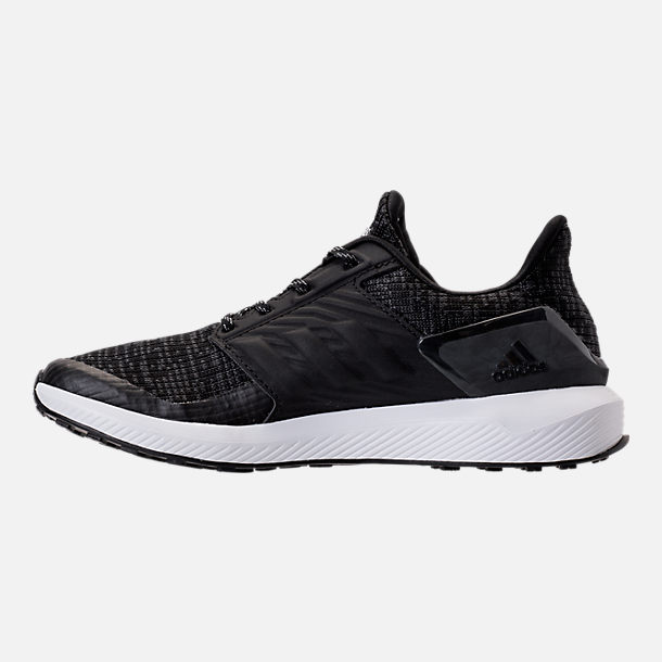 Left view of Boys' Grade School adidas Rapida Run Lux Running Shoes in Black/White