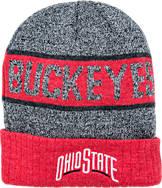 Top Of The World Ohio State Buckeyes College Below Zero 2 Cuffed Knit Hat