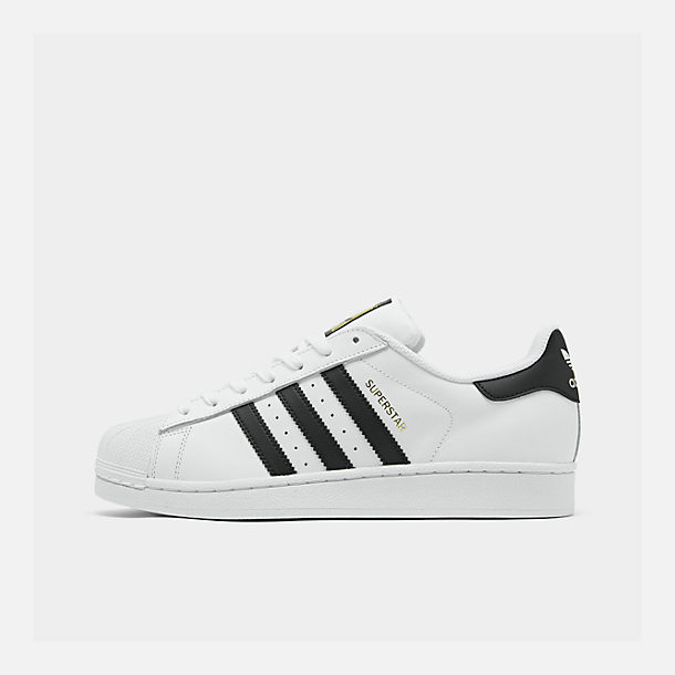 Right view of Men s adidas Superstar Casual Shoes in White Black Gold 696aff90b