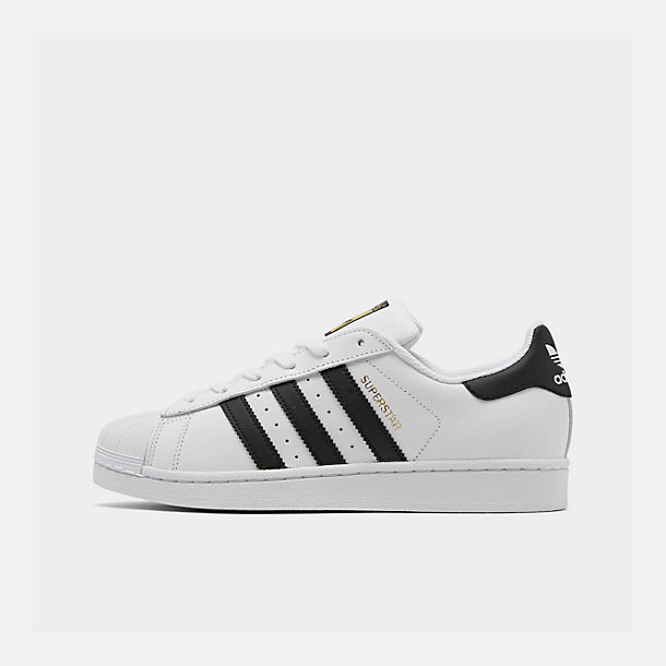 Right view of Women's adidas Originals Superstar Casual Shoes in White/Black