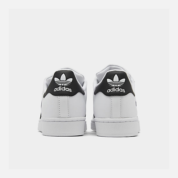 43dc1d96b2 Left view of Women s adidas Originals Superstar Casual Shoes in White Black
