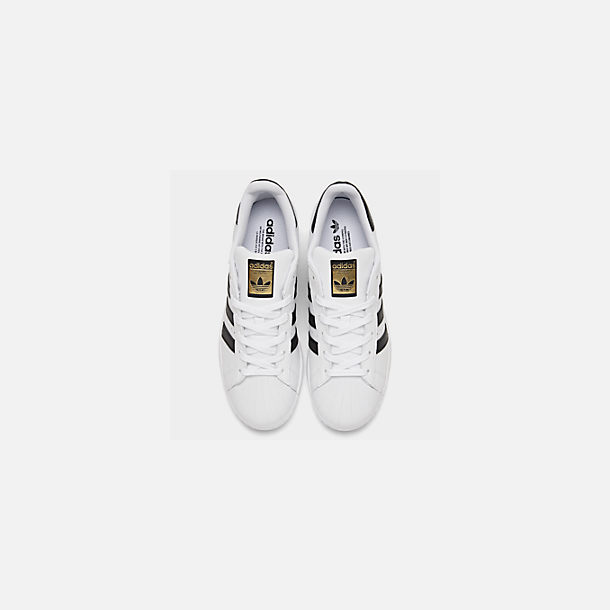 Back view of Women's adidas Originals Superstar Casual Shoes in White/Black
