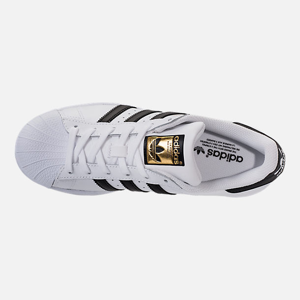 Top view of Women's adidas Originals Superstar Casual Shoes in White/Black