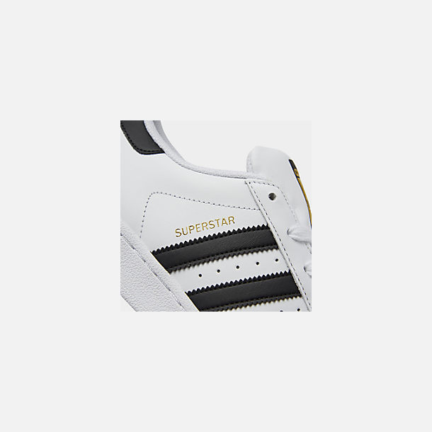 Front view of Big Kids' adidas Superstar Casual Shoes in White/Black/White