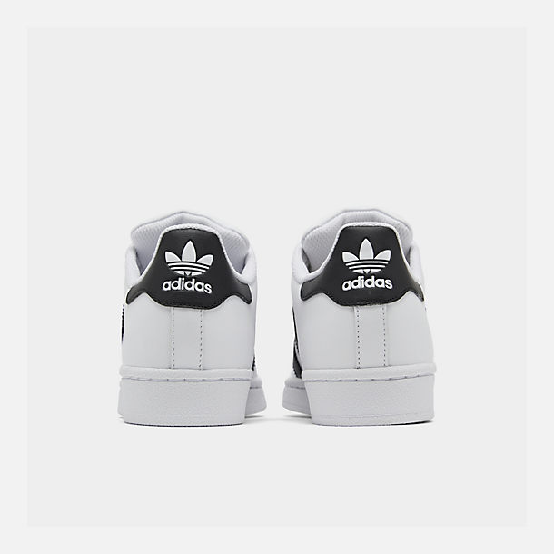 Left view of Big Kids' adidas Superstar Casual Shoes in White/Black/White
