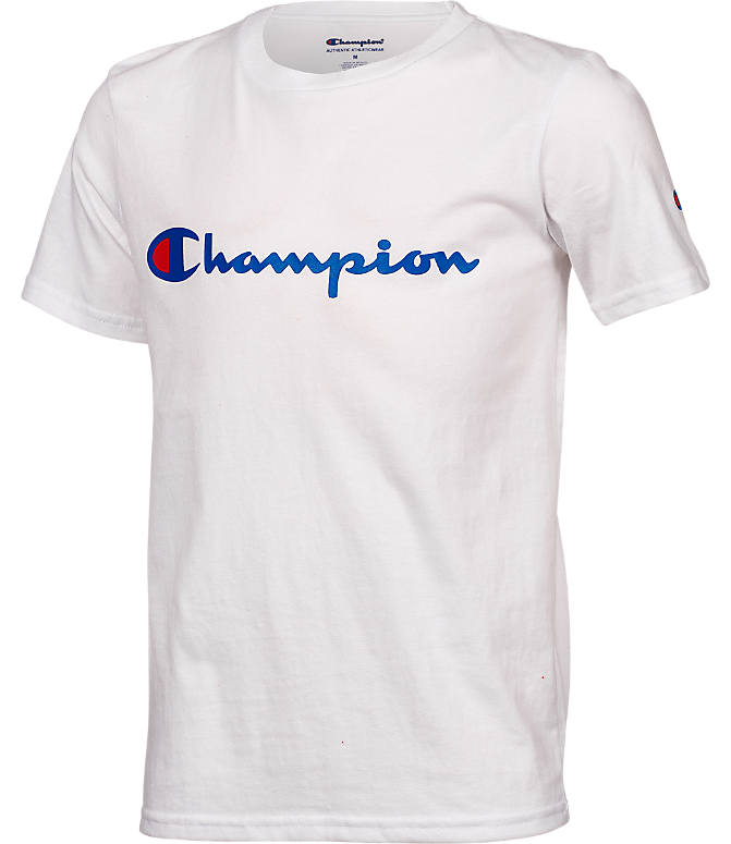 Front view of Kids' Champion Heritage T-Shirt in White