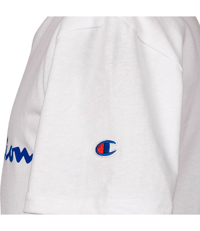 Back view of Kids' Champion Heritage T-Shirt in White