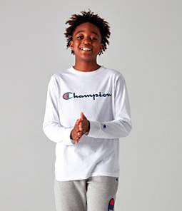 Kids' Champion Heritage Logo Long Sleeve T-Shirt