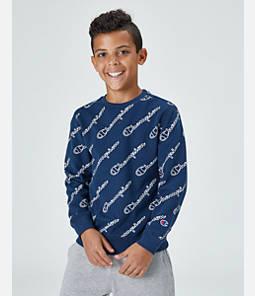 Boys' Champion Allover Print Graphic Crewneck Sweatshirt