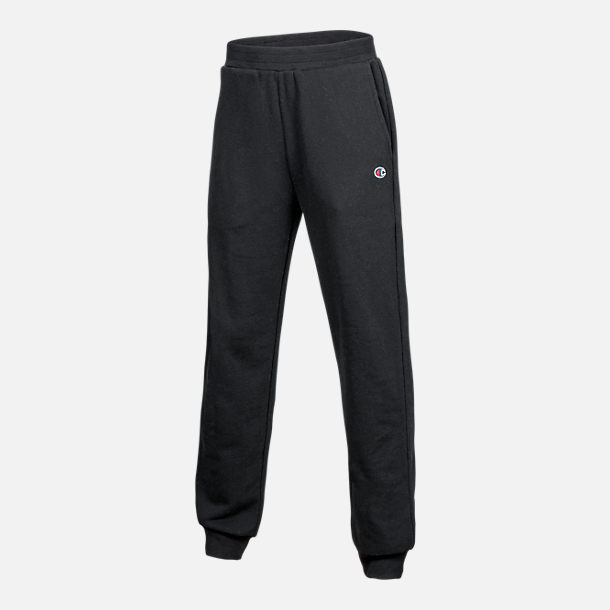 Front view of Kids' Champion Heritage Jogger Sweatpants in Black