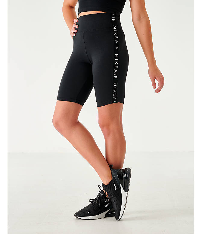 Front view of Women's Nike Air Bike Shorts in Black