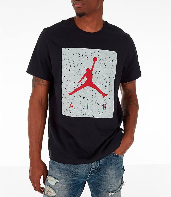 fe1714e568e916 Front view of Men's Jordan Poolside T-Shirt in Black/Grey