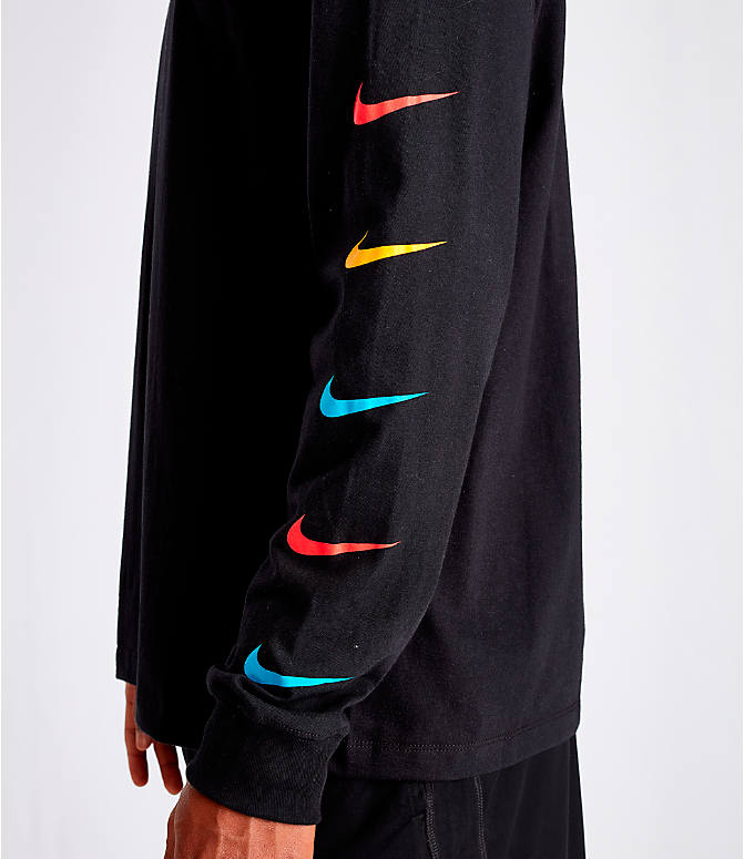 Detail 1 view of Men's Nike Kyrie Friends Long-Sleeve Basketball T-Shirt in Black