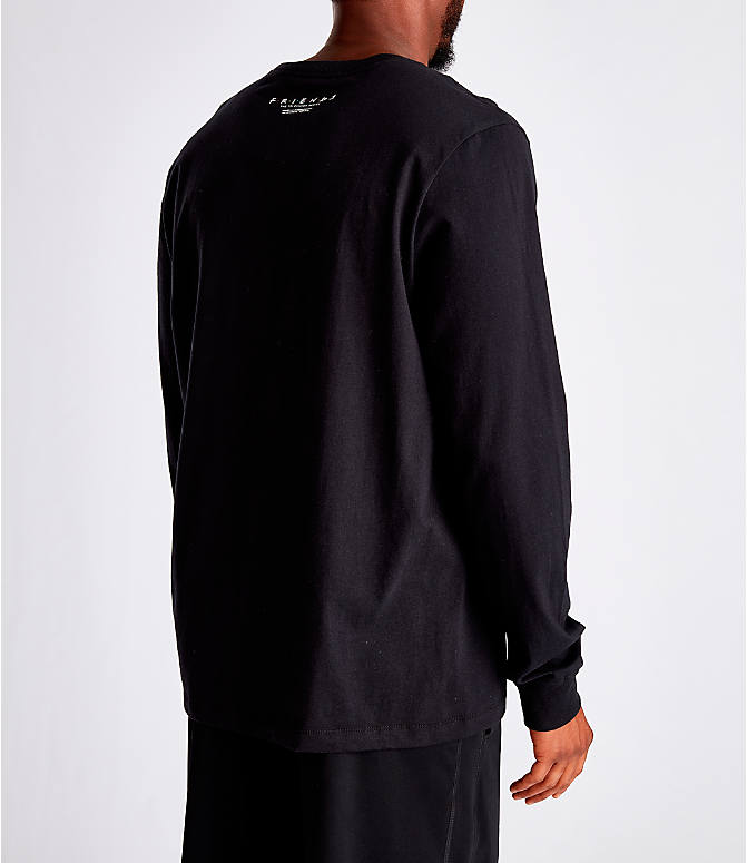 Back Right view of Men's Nike Kyrie Friends Long-Sleeve Basketball T-Shirt in Black