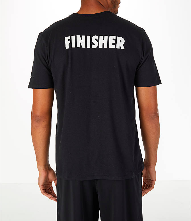 Front Three Quarter view of Men's Nike GO LA 10k Exclusive Short-Sleeve Crew T-Shirt in Black