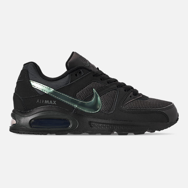 Right view of Men's Nike Air Max Command Casual Shoes in Black/Black/Anthracite/Space Purple