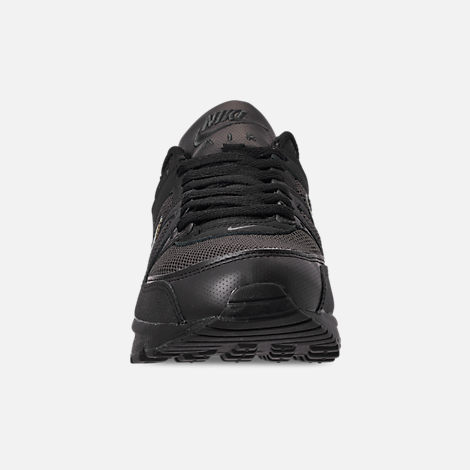 Front view of Men's Nike Air Max Command Casual Shoes in Black/Black/Anthracite/Space Purple