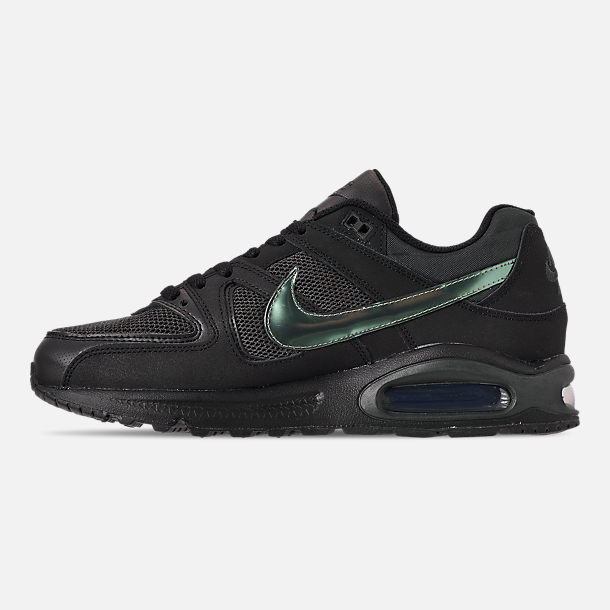 Left view of Men's Nike Air Max Command Casual Shoes in Black/Black/Anthracite/Space Purple