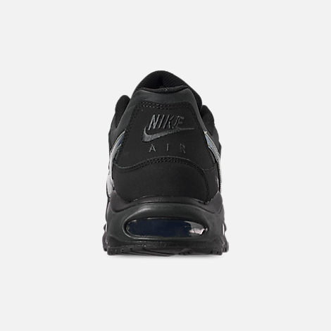 Back view of Men's Nike Air Max Command Casual Shoes in Black/Black/Anthracite/Space Purple
