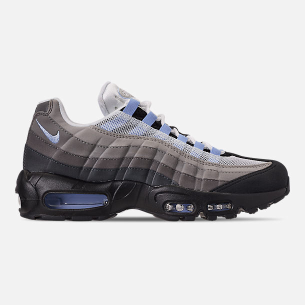 Right view of Men's Nike Air Max 95 Casual Shoes in Black/Aluminum/Anthracite