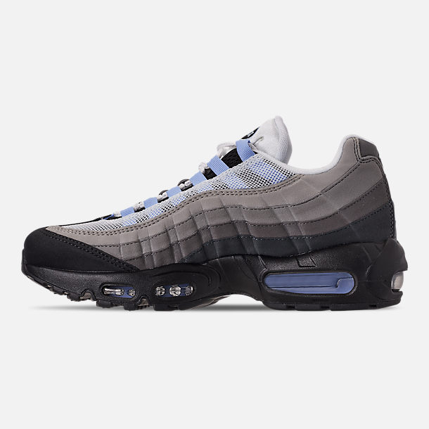 Left view of Men's Nike Air Max 95 Casual Shoes in Black/Aluminum/Anthracite