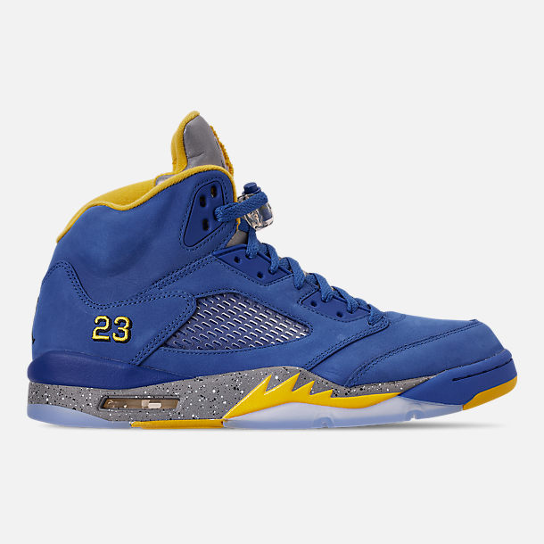 c5214275f39 Right view of Men's Air Jordan Retro 5 Laney JSP Basketball Shoes in  Varsity Royal/