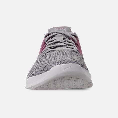 Front view of Women's Nike Metcon 4 XD Training Shoes in Atmosphere Grey/True Berry/Plum Dust