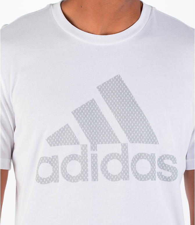Detail 1 view of Men's adidas Badge of Sport Metal T-Shirt in White