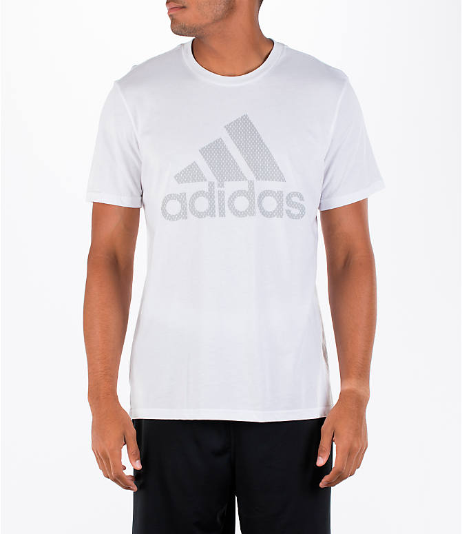 Front view of Men's adidas Badge of Sport Metal T-Shirt in White