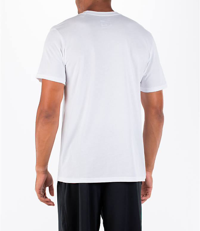 Back Left view of Men's adidas Badge of Sport Metal T-Shirt in White