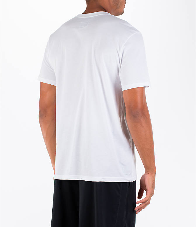 Back Right view of Men's adidas Badge of Sport Metal T-Shirt in White